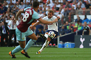Harry Kane of Tottenham Hotspur takes a free kick . Premier league match, Tottenham Hotspur v Burnley at Wembley Stadium in London on Sunday 27th August 2017.<br /> pic by Steffan Bowen, Andrew Orchard sports photography.