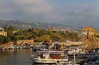 Ancient old harbour port of Byblos Jbeil in Lebanon Middle east