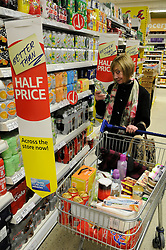 © under license to London News Pictures. 19/04/11. FILE PICTURE DATED 2011.01.07. Shoppers at Tesco Extra store in Orpington. Tesco has reported full year profits buoyed by rapid growth in Asia.Profits before tax of £3.54bn for the year to 26 February 2011 were up 11.3% from the year before.  Picture credit should read Grant Falvey/London News Pictures.