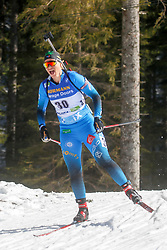 competes during the IBU World Championships Biathlon 12,5 km Mass start Women competition on February 21, 2021 in Pokljuka, Slovenia. Photo by Vid Ponikvar / Sportida