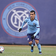 NEW YORK, NEW YORK - March 18: Maximiliano Moralez #10 of New York City FC in action during the New York City FC Vs Montreal Impact regular season MLS game at Yankee Stadium on March 18, 2017 in New York City. (Photo by Tim Clayton/Corbis via Getty Images)