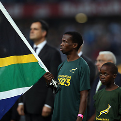 Bongamusa Mthembu and son during the 2nd Castle Lager Incoming Series Test match between South Africa and France at Growthpoint Kings Park on June 17, 2017 in Durban, South Africa. (Photo by Steve Haag Sports)