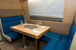 Pictured:<br /> Transport minister Humza Yousaf MSP headed to Broxburn today to view a mock-up of the lay-out of the new Caledonian Sleeper cars which will come into service in 2018. He met executives of Caledonian Sleeper and was shown round the carraige by Managing Director Peter Strachan<br /> <br /> (c) Ger Harley   Edinburgh Elite media