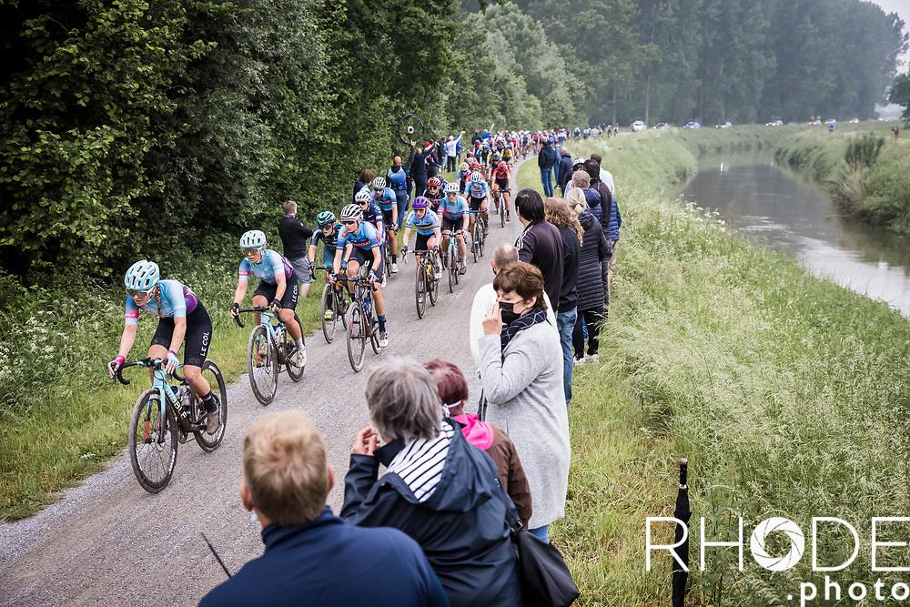 1st Dwars Door Het Hageland Women Elite <br /> One Day Race: Aarschot > Diest 122km<br /> Bingoal Cycling Cup 2021<br /> <br /> ©RhodePhoto