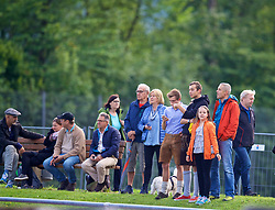 ROTTACH-EGERN, GERMANY - Friday, July 28, 2017: Local Liverpool supporters watch the team during a training session at FC Rottach-Egern on day three of the preseason training camp in Germany. (Pic by David Rawcliffe/Propaganda)