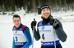 Luka Bozic and … of Slovenian Kayak Canoe National Team at Winter training of Cross country, on January 7, 2015 in Rudno polje, Pokljuka, Slovenia.  Photo by Vid Ponikvar / Sportida