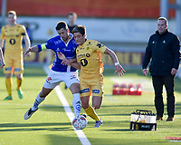 Fotball , 02. mai 2016 ,  Tippeligaen , Eliteserien ,<br /> Bodø Glimt - Sarpsborg 08<br /> Steffen Ernemann, Sarpsborg 08 <br /> Geir Bakke, Sarpsborg 08<br /> Mathias Antonsen Normann, Bodø Glimt
