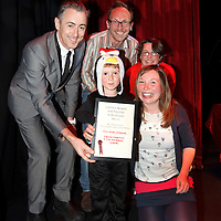 Picture Shows : BEST PRODUCTION FOR CHILDREN AND YOUNG PEOPLE:.Too Many Penguins, Frozen Charlotte and the MacRobert, Stirling presented by Alan Cumming..The 10th Annual Critics? Awards for Theatre in Scotland (CATS), Sunday 10th June at The Tron Theatre, Glasgow..Picture by Drew Farrell Tel : 07721-735041..NOTES TO EDITORS:.For further information on the CATS visit www.criticsawards.theatrescotland.com.Alan Cumming who is starring in Macbeth, the National Theatre of Scotland?s forthcoming play directed by John Tiffany and Andrew Goldberg at Tramway, Glasgow from Wednesday 13th June - Saturday 30th June, 2012, presents the CATS Awards. .? Over 200 productions were considered for nominations.? 123 were eligible for Best New Play.? 36 of those productions were created for children and young people.? 23 shows have reached the final nominations stage.www.criticsawards.theatrescotland.com.For further press information or images please contact:.Wendy Grannon Tel: +44 (0) 07916 137 632 .E: wendy@wendygrannon.co.uk...