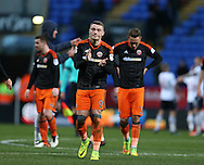A dejected Caolan Lavery of Sheffield Utd leads the players off the pitch during the FA Cup Second round match at the Macron Stadium, Bolton. Picture date: December 4th, 2016. Pic Simon Bellis/Sportimage