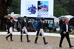 Podium Young Riders Kür : <br /> 1. Sanneke Rothenberger (GER)<br /> 2. Annabel Frenzen (GER)<br /> 3. Cathrine Dufour (DEN)<br /> European Championship Dressage Young Riders - Broholm 2011