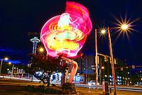 Elephant Super Car Wash Neon Sign & Space Needle
