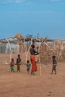 Dassanach tribe village, Omo Valley, Ethiopia.