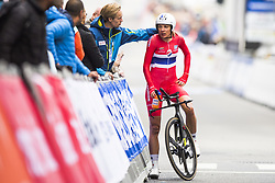 September 19, 2017 - Bergen, NORWAY - 170919 Vita Heine of Norway looks dejected after crossing the finish line during the Women Elite Individual Time Trial on September 19, 2017 in Bergen..Photo: Jon Olav Nesvold / BILDBYRÃ…N / kod JE / 160022 (Credit Image: © Jon Olav Nesvold/Bildbyran via ZUMA Wire)