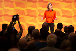 © Licensed to London News Pictures. 09/11/2019. London, UK. Leader of the Liberal Democrats Jo Swinson speaks at her party's Rally for the Future at Battersea Arts Centre .  Photo credit: George Cracknell Wright/LNP