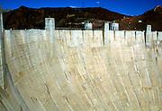 The Hoover dam on the Colorado River, Nevada and Arizona border, USA