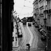 The streets of Chiado on the first rainy day of Autumn