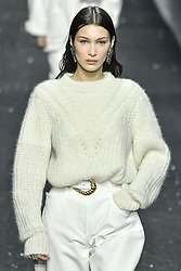 Milan Fashion Week Fashion for women autumn winter 2019 - 2020. Alberta Ferretti fashion show. In the photo: Bella Hadid