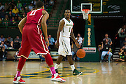 WACO, TX - JANUARY 24: Kenny Chery #1 of the Baylor Bears brings the ball up court against the Oklahoma Sooners on January 24, 2015 at the Ferrell Center in Waco, Texas.  (Photo by Cooper Neill/Getty Images) *** Local Caption *** Kenny Chery