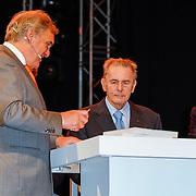 NLD/Arnhem/20121103 - 100 Jarig bestaan NOC/NSF Sportparade, Andre Bolhuis, Jaques Rogge en Prins Willem Alexander