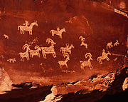 Wolfe Ranch Petroglyph Panel, likely Ute in origin, Arches National Park, Utah.