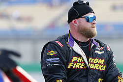 July 13, 2018 - Sparta, Kentucky, United States of America - A crew member for Ryan Truex (11) works in the pits during the Alsco 300 at Kentucky Speedway in Sparta, Kentucky. (Credit Image: © Chris Owens Asp Inc/ASP via ZUMA Wire)