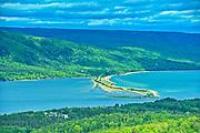 Causeway. Cabot Trail. Cape Breton Island. Appalachian Mountain chain.  <br />North Sydney<br />Nova Scotia<br />Canada