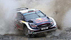 M-Sport Ford's Elfyn Evans on the Sweet Lamb stage during day three of the DayInsure Wales Rally GB. PRESS ASSOCIATION Photo. Picture date: Saturday October 6, 2018. See PA story AUTO Rally. Photo credit should read: David Davies/PA Wire. RESTRICTIONS: Editorial use only. Commercial use with prior consent from teams.