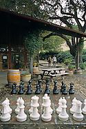 Outdoor chess set at Zaca Mesa Winery, along Foxen Canyon Road, Santa Barbara County, California