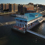 Yonkers Pier as seen from Hudson River