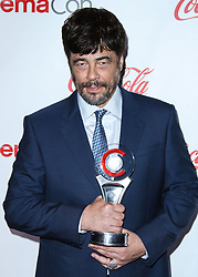 LAS VEGAS, NV, USA - APRIL 26: CinemaCon Big Screen Achievement Awards 2018 held at Omnia Nightclub at Caesars Palace during CinemaCon, the official convention of the National Association of Theatre Owners on April 26, 2018 in Las Vegas, Nevada, United States. 26 Apr 2018 Pictured: Benicio del Toro. Photo credit: Xavier Collin/Image Press Agency / MEGA TheMegaAgency.com +1 888 505 6342