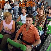 Wrapparty Onderweg naar Morgen Six Flags, cast in Goliath