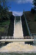 Spillway and runoff from Lake Hennessey, Napa County, California