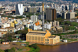Vista aérea da Usina do Gasômetro, em Porto Alegre. FOTO : Jefferson Bernardes/Preview.com