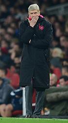 Arsenal manager Arsene Wenger looks dejected. - Mandatory by-line: Alex James/JMP - 02/11/2017 - FOOTBALL - Emirates Stadium - London, England - Arsenal v Red Star Belgrade - UEFA Europa League Group H