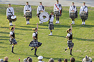 West Point, New York - Dancers from the United States Corps of Cadets Pipes & Drums perform at the 32nd annual West Point Military Tattoo at the United States Military Academy on April 13, 2014. The United States Corps of Cadets Pipes & Drums is a bagpipe, drum, and dance ensemble.