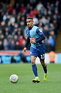Wycombe Wanderers Paris Cowan-Hall(12) *** during the EFL Sky Bet League 1 match between Wycombe Wanderers and Sunderland at Adams Park, High Wycombe, England on 9 March 2019.