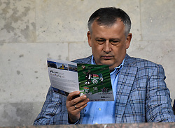 August 18, 2017 - St. Petersburg, Russia - Russia, St. Petersburg, on August 18, 2017. Russian Football Championship. The governor of the Leningrad Region Alexander Drozdenko at a match of the Russian Football Championship among clubs of the Premier League between teams of FC Tosno (Tosno) and SKA KHABAROVSK  (Credit Image: © Andrey Pronin via ZUMA Wire)