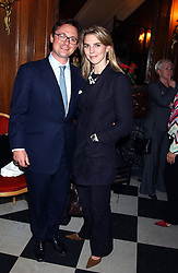 VISCOUNT DUNLUCE and his fiance AURORA GUNN at a party to celebrate the publication of 'Princesses' the six daughters of George 111 by Flora Fraser held at the Saville Club, Brook Street, London W1 on 14th September 2004.<br /><br />NON EXCLUSIVE - WORLD RIGHTS