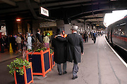 York station. Royal Ascot Race meeting Ascot at York. Tuesday 14 June 2005. ONE TIME USE ONLY - DO NOT ARCHIVE  © Copyright Photograph by Dafydd Jones 66 Stockwell Park Rd. London SW9 0DA Tel 020 7733 0108 www.dafjones.com
