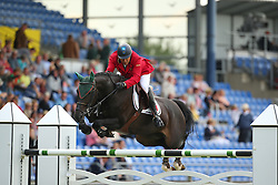 Goncalves Luis Sabino, (POR), Filou Imperio Egipcio<br /> Team Competition round 1 and Individual Competition round 1<br /> FEI European Championships - Aachen 2015<br /> © Hippo Foto - Stefan Lafrentz<br /> 19/08/15