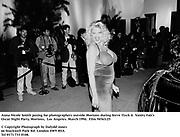 Scene outside Mortons including Oscar topiary, film crews and media. Steve Tisch &  Vanity Fair's Oscar Night Party,<br />Mortons,  Los Angeles. March 1994.  Film 94562/11<br /> <br />© Copyright Photograph by Dafydd Jones<br />66 Stockwell Park Rd. London SW9 0DA<br />Tel 0171 733 0108.