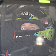Stock car driver during warm ups for the 2010 Daytona 500 race at the Daytona International Speedway on February 10, 2010 in Daytona Beach, Florida. (AP Photo/Alex Menendez)