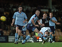 Photo: Paul Greenwood.<br />Port Vale v Swansea City. Coca Cola League 1. 18/11/2006. Swansea's Lee Trundle (10) scores the first goal.