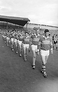 Kerry team line up before the All Ireland Senior Gaelic Football Final Kerry v Down in Croke Park on the 22nd September 1968. Down 2-12 Kerry 1-13.