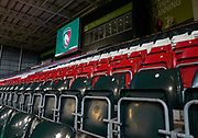 General view of the The Mattioli Woods Welford Road Stadium during a Gallagher Premiership Round 7 Rugby Union match, Friday, Jan. 29, 2021, in Leicester, United Kingdom. (Steve Flynn/Image of Sport)