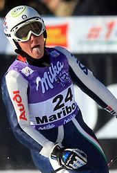 Camilla Alfieri of Itay after second run at Maribor women giant slalom race of Audi FIS Ski World Cup 2008-09, in Maribor, Slovenia, on January 10, 2009. (Photo by Vid Ponikvar / Sportida)