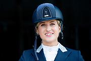 Setbezoek Britt Dekkers paardenfilm Whitestar bij de Royal Dutch Sport Horse in ERmelo.<br /> <br /> op de foto:  Britt Dekker