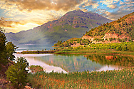 Dalyan Çayı River delta . Mediterranean coast Turkey<br /> <br /> If you prefer to buy from our ALAMY PHOTO LIBRARY  Collection visit : https://www.alamy.com/portfolio/paul-williams-funkystock/dalyan-lycian-tombs-and-kaunos.html<br /> <br /> Visit our TURKEY PHOTO COLLECTIONS for more photos to download or buy as wall art prints https://funkystock.photoshelter.com/gallery-collection/3f-Pictures-of-Turkey-Turkey-Photos-Images-Fotos/C0000U.hJWkZxAbg