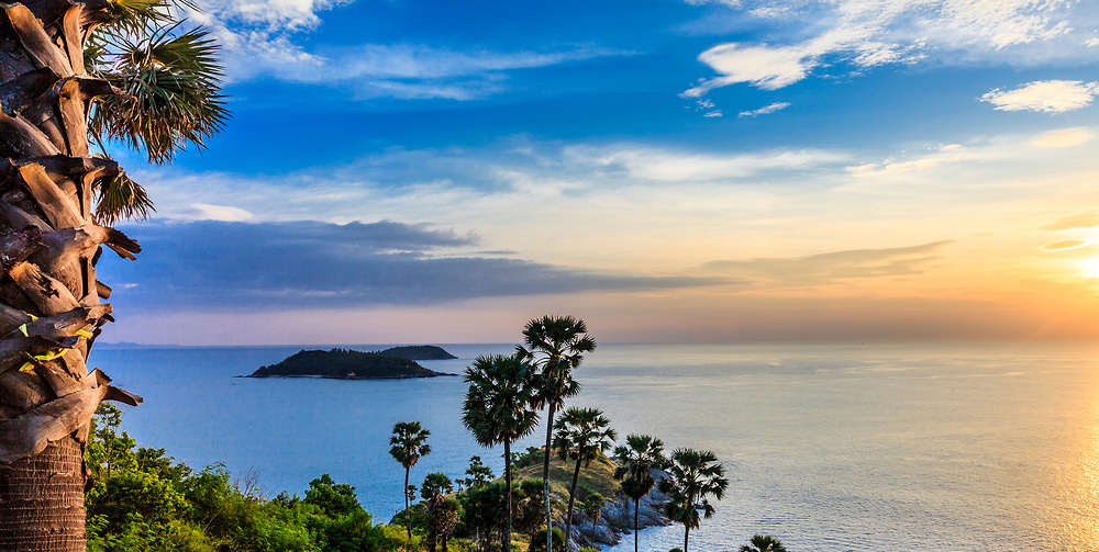 Phromthep Cape is the island's most photographed and perhaps best-known location. Every evening people gather on this southernmost hill to watch the sunset at its peak.