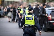 Springmeet 2019, Östersund - 18 MAJ 2019: Polisen hade en relativt lugn kväll inledningsvis. (Foto: Per Danielsson/Projekt.P ) <br /> <br /> Nyckelord Keywords: Springmeet 2019, Crusing,